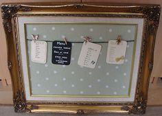 Shabby chic handmade personalised wedding table plan in vintage frame   eBay