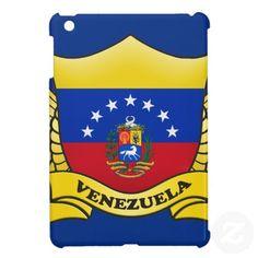 Venezuela Flag Banner with Ribbon iPad Mini Case.