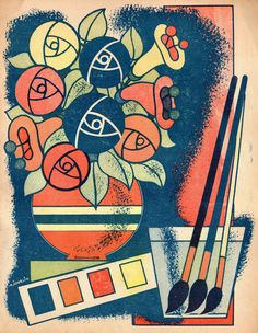 http://www.presentandcorrect.com/blog/coloriages-1942 We found some old colouring books in Lille, published in 1942. These are our favourite pages from them.