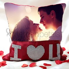 On Valentine 2015 make your love feel like a star with this romantic Personalized Cushion.
