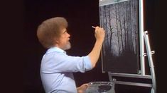 Bob Ross creates palm trees that yield to stiff sea breezes as a sky of ominous clouds loom in the background. Season 14 of The Joy of Painting with Bob Ross. Bob Ross Painting Videos, Bob Ross Paintings, Peintures Bob Ross, Bob Ross Youtube, Oil Painting Lessons, Painting Tips, Painting Flowers, Online Painting, Painting Tutorials