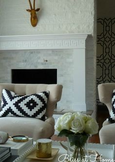 Fireplace Makeover || Living Room