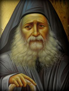 Geronda Iosif Byzantine Icons, Byzantine Art, Greek Icons, The Holy Mountain, New Saints, St Anne, Best Icons, Art Thou, The Monks