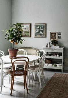 Casual dining with Thonet chair mix