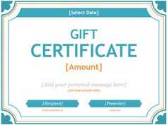 Create a Gift Certificate with These Free Microsoft Word Templates: Microsoft's…