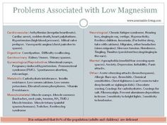 Symptoms of Low Magnesium http://atpeacefloatationspa.com/services/floatation-therapy/ in DFW area