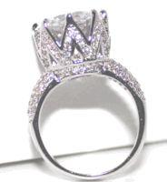 crown ring in Fashion Rings Silver Wedding Crowns, Pretty Wedding Rings, Wedding Rings Rose Gold, Diamond Wedding Bands, Huge Diamond Rings, Stackable Diamond Rings, Eternity Ring Diamond, Diamond Stone, Fashion Rings