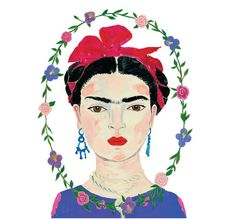 This is a digital print of a beautiful painting of Frida Kahlo originally painted in gouache. This painting is printed on fine art paper.  Full Color 8.5x11 Velvet Matte Art Paper Unframed