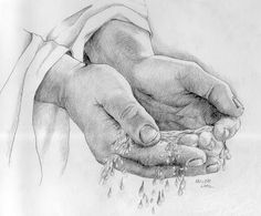 Jesus Reaching Out His Hand Jesus Drawings, Pencil Art Drawings, Art Sketches, Christian Drawings, Christian Art, Drawing Cup, Painting & Drawing, Sheep Tattoo, Pictures Of Christ