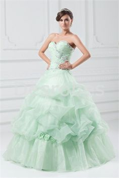 Buy beading and hand made flowers sweetheart organza quinceanera dress from best quinceanera dresses collection, sweetheart ball gowns in apple green color,cheap floor length organza dress with lace up back and for military ball sweet 16 quinceanera . Homecoming Dresses Long, Girls Pageant Dresses, Dresses 2014, Cheap Party Dresses, Sweetheart Prom Dress, Half Sleeve Dresses, Sweet 16 Dresses, Womens Cocktail Dresses, Ball Gown Dresses
