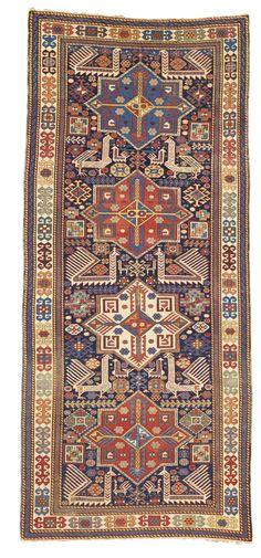 Akstafa rug, East Caucasus approximately 294 by circa 1875 Persian Carpet, Persian Rug, Asian Rugs, Rug Sale, Art Deco, Textiles, Modern Rugs, Tribal Rug, Kilim Rugs