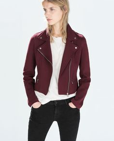 ZARA - WOMAN - PLUSH BIKER JACKET