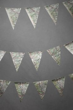 Off The Map Pennant Garland @Rebecca DeKuiper--for your map board...and travel party?