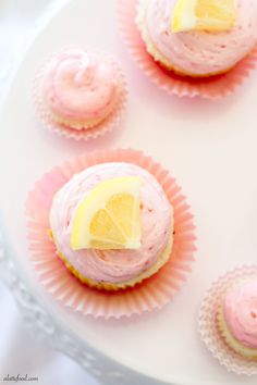 Lemon Cupcakes with Lemon Curd and Raspberry Buttercream
