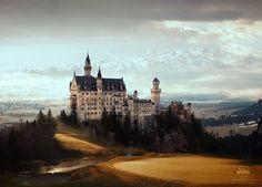Photo print Majestic Castle $26.00 #brigteam #treasuremeteam #Neuschwanstein #Castle #royal #palace #Bavarian #Alps #Germany #mansion #chateau #landscape