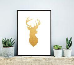 Deer Print Instant Download Printable Art Wall by honeytreeprints