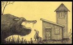 Image uploaded by kristen. Find images and videos about illustration, don kenn and john kenn on We Heart It - the app to get lost in what you love. Arte Post It, Post It Art, Creepy Drawings, Dark Drawings, Edward Gorey, Monster Drawing, Monster Art, Arte Horror, Horror Art