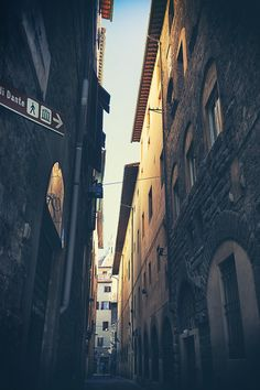 Narrow street in Florence by VictorGrow on @creativemarket