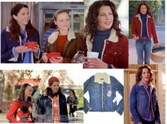 Shearling Jacket Gilmore Girls Lorelei Gilmore's Style #LoreleiGilmore #style #shearlingjacket  http://www.practicallyfashion.com/lorelai-gilmores-style/