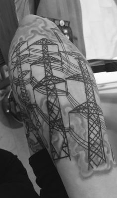 From powerlines to tools, get an electrical surge of inspiration with the top 50 best lineman tattoos for men. Explore cool design ideas with shocking style. Tribal Forearm Tattoos, Outer Forearm Tattoo, Forearm Tattoo Design, Wrist Tattoos, Sleeve Tattoos, Tatoos, Jeep Tattoo, Lineman Tattoo, Tattoo Cat