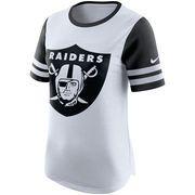 Oakland Raiders Nike Women s Gear Up Modern Fan Performance T-Shirt - White 87b7dc3e5