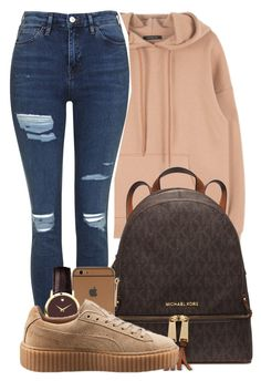 """""""6/30/16"""" by mikaria-fashion ❤ liked on Polyvore featuring Topshop, Michael Kors, Movado and Puma"""