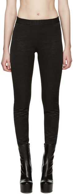 GARETH PUGH Black Textured Leggings. #garethpugh #cloth #leggings