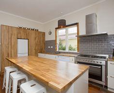 Kitchen Sally Steer Design Wellington NZ Finger Joint, Design Kitchen, Sally, Kitchens, Label, Furniture, Black, Home Decor, Design Of Kitchen