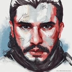 Jon Snow, Game of Thrones Game Of Thrones Drawings, Game Of Thrones Illustrations, Game Of Thrones Artwork, Painting Snow, Sketch Painting, Jhon Snow, Wallpaper Wall, Human Art, Watercolor Portraits