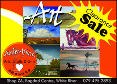 Join us this coming weekend 12th July for our Art Clearance sale. Includes art from Winston Cornish and Don Doncaster. Can't wait to see you there! #Amberafrica #artclearancesale