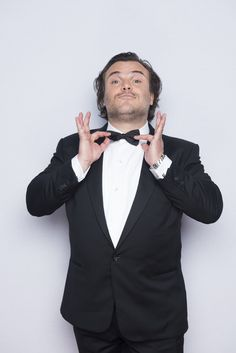 Photo Booth Portraits From The AFI Life Achievement Tribute To Steve Martin Jack Black. Jack Black, Celebrity Portraits, Celebrity Photos, Celebrity Crush, Hottest Male Celebrities, Celebs, Tenacious D, Steve Martin, George Carlin