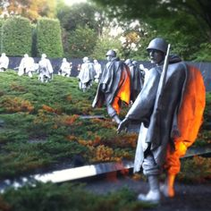 Korean War Veterans Memorial  Washington DC-- I definitely want to go back to look at all the memorials soon