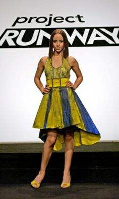 Jeffrey Sebelia Recycled Magazine and Newspaper Dress - Project Runway (Season 3)