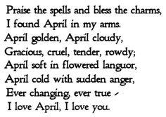 April Poem Ogden Nash