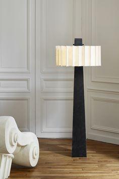 "Floor lamp ""Pantheon"" by Mauro Fabbro (Alexandre Biaggi's edition) / Armchair ""capitello"""