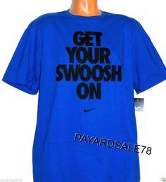 033fae6818c4 Mens Nike T-shirt L Large Crewneck T Shirt Swoosh White S s Spot
