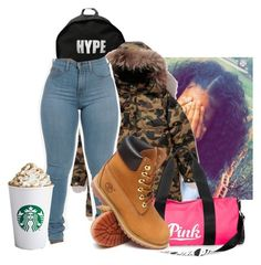 """""""Saturday.. Going to Grapevine,  Texas for competition"""" by illestqveen on Polyvore featuring ASAP, Victoria's Secret PINK and Timberland"""