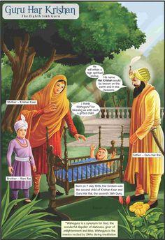 Guru Har Krishan - The Eighth Sikh Guru (English Graphic Novel) Guru Harkrishan Ji, Guru Nanak Ji, Guru Granth Sahib Quotes, Sri Guru Granth Sahib, Sikh Quotes, Gurbani Quotes, Guru Nanak Teachings, Baba Deep Singh Ji, Guru Nanak Wallpaper