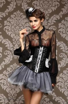 Woman under bust corset gothic style , Grand Steampunk Leather Clasp corset underbust for women under bust corset black Alternative Measures