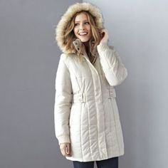 JESSICA®/MD Women's 3/4-Length Belted Fashion Parka - Sears   Sears Canada