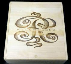 Gorgeous Relentless Winery 3 Bottle Wooden Wine Case
