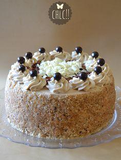 tarta-de-cumpleaños-de-moka Sweet Cheeks, Brownie Recipes, Flan, Wine Recipes, Cupcake Cakes, Tiramisu, Deserts, Food And Drink, Pudding