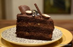 Dessert Cake Recipes, Vegan Kitchen, Homemade Cakes, Something Sweet, Chocolate, Confectionery, Vegan Desserts, Deserts, Food And Drink