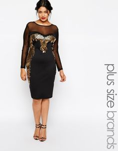 Browse online for the newest Lipstick Boutique Plus Baroque Insert Body-Conscious Dress styles. Shop easier with ASOS' multiple payments and return options (Ts&Cs apply). Plus Size Party Dresses, Evening Dresses Plus Size, Plus Size Dresses, Plus Size Outfits, Kohls Dresses, Midi Dresses, Sexy Dresses, New Years Eve Dresses, Robes Midi