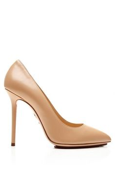 Monroe Leather Pumps by Charlotte Olympia Now Available on Moda Operandi