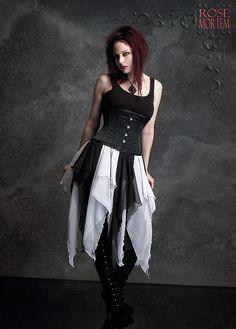 Artemisia Gothic Fairy Skirt Handmade Gothic door rosemortem
