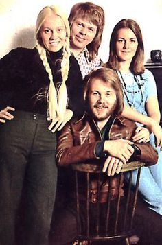Before they were called ABBA: Bjorn & Benny and Anna & Frida in 1973.