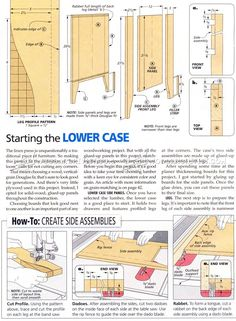 #3125 Linen Press Plans - Furniture Plans