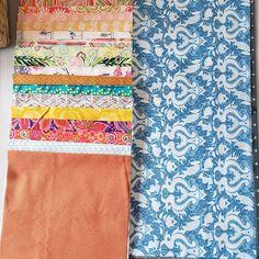Modern Fabric Scrap Bundle-20 Random Fat Eighths | Etsy #SatinFabric Organizing Fabric Scraps, Organize Fabric, Discount Fabric Online, Buy Fabric Online, Patchwork Fabric, Cotton Quilting Fabric, Plaid Fabric, Satin Fabric, Hemp Fabric
