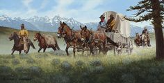 Over the Gros Ventre Joe Vasquez Cowgirl And Horse, Cowboy Art, Wagon Trails, Old West Town, Into The West, West Art, Red Dead Redemption, Mountain Man, Wildlife Art